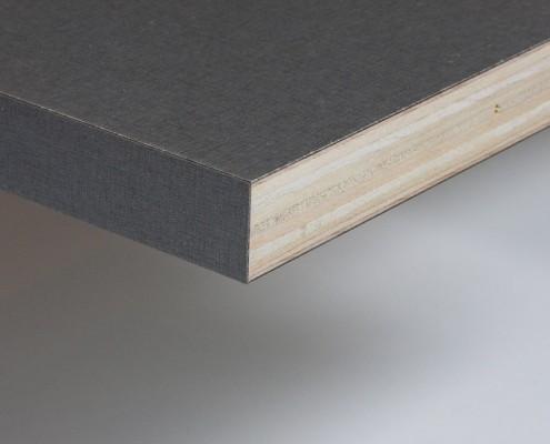 Vlak werkblad 25mm multiplex afgewerkt met HPL
