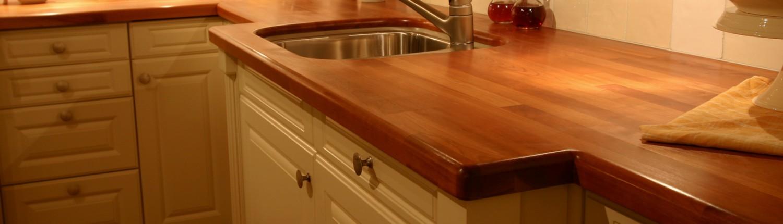 Massief houten keukenblad