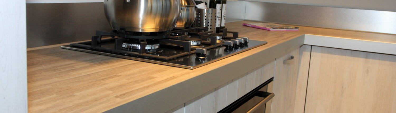 HPL keukenblad met aluminium randafwerking